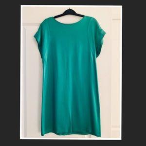 Theory green shift dress